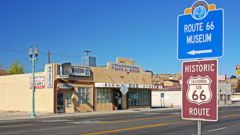 Going northbound, this trip starts at the California Route 66 Museum