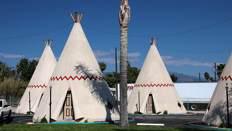 Closer look at some of the wigwams