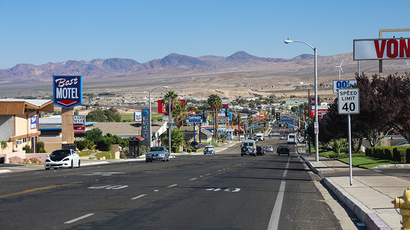 Cruising down Main Street Barstow, aka Route 66