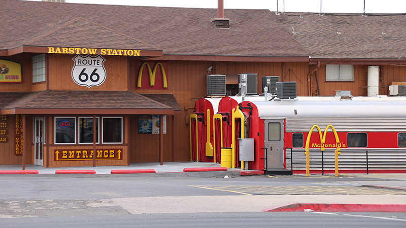 Barstow Station, the most busiest McDonald's in the World, sits on Route 66