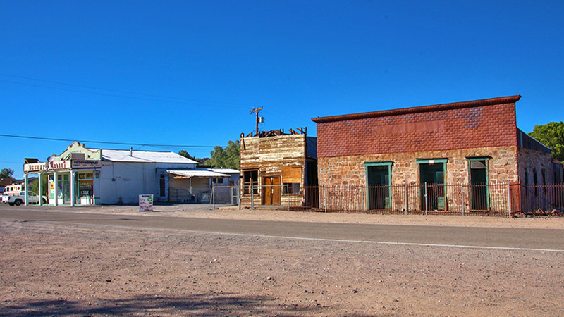 Old buildings from 1890s in downtown Daggett