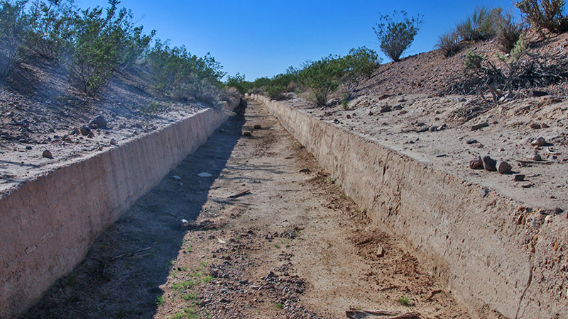 "The ""Daggett Ditch"" aqueduct project from the 1890s"