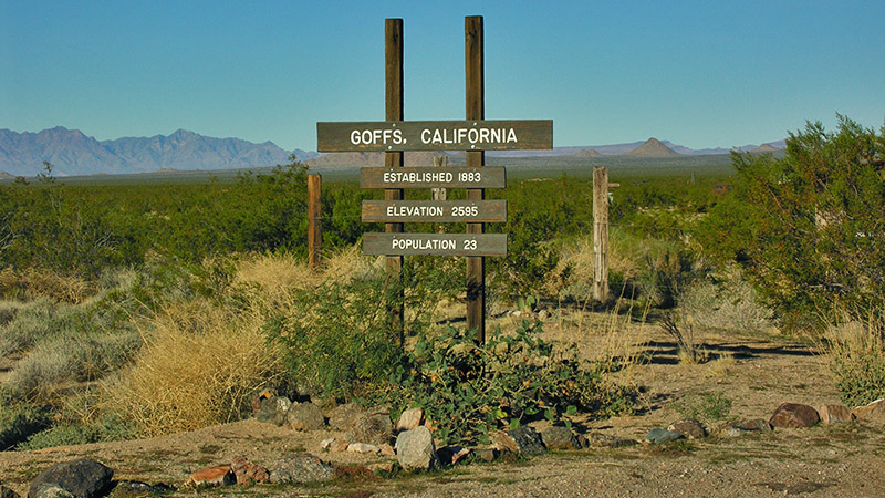Goffs is another small town along Route 66 and is access point to the Mojave National Preserve