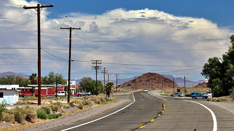 Driving east on Route 66 thru Newberry Springs