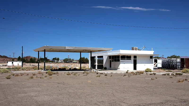 One of several old gas stations along the Newbery Springs stretch of Route 66