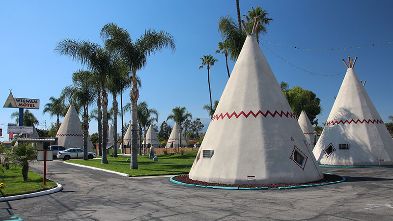 The Wigwam Hotel is located just west of San Bernardino