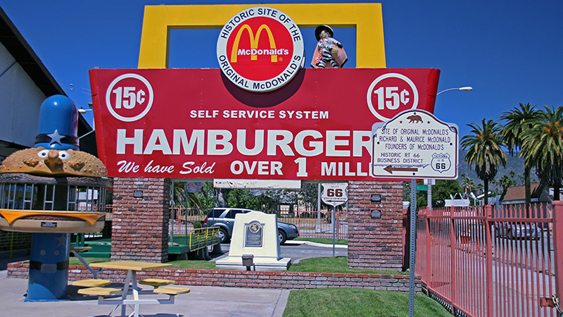 Not far off Route 66 is the original MacDonalds, which is now a museum.