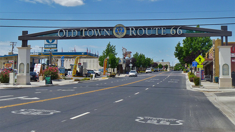 Old downtown Victorville and 7th Street, which is Route 66