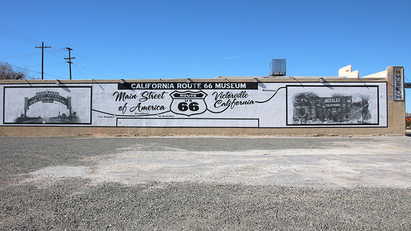 The side of the California Route 66 Museum