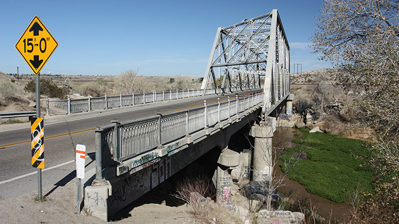 Steel bridge just north of Victorville