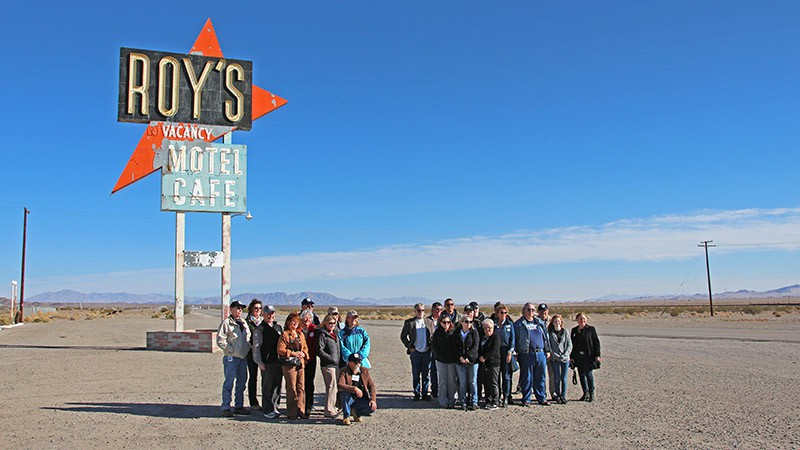 Group picture at Amboy townsite
